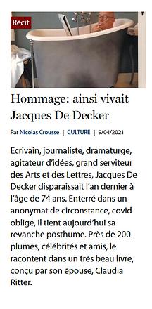 Hommage : ainsi vivait Jacques De Decker