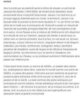 Jacques De Decker : L'immortel de l'Académie royale de Belgique