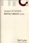 Bertolt Brecht poète 2015