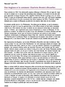 Mercredi 5 juin 1991(592) Une Anglaise et le continent: Charlotte Brontë à Bruxelles 