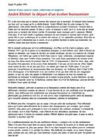 Jeudi 25 juillet 1991 (625) Auteur d'une oeuvre vaste, cohérente et inspirée André Dhôtel: le départ d'un écolier buissonnier 
