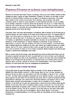 Mercredi 14 août (640) Flannery O'Connor et sa basse-cour métaphysique  