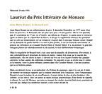 Mercredi 29 mai 1991 (589) Lauréat du Prix littéraire de Monaco Jean-Marie Rouart, le hussard noir