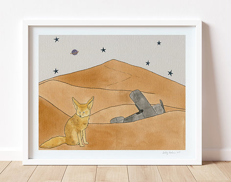 Fennec Fox in the Desert print, unframed