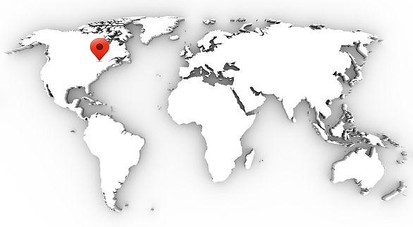 World Map Ottawa Pin