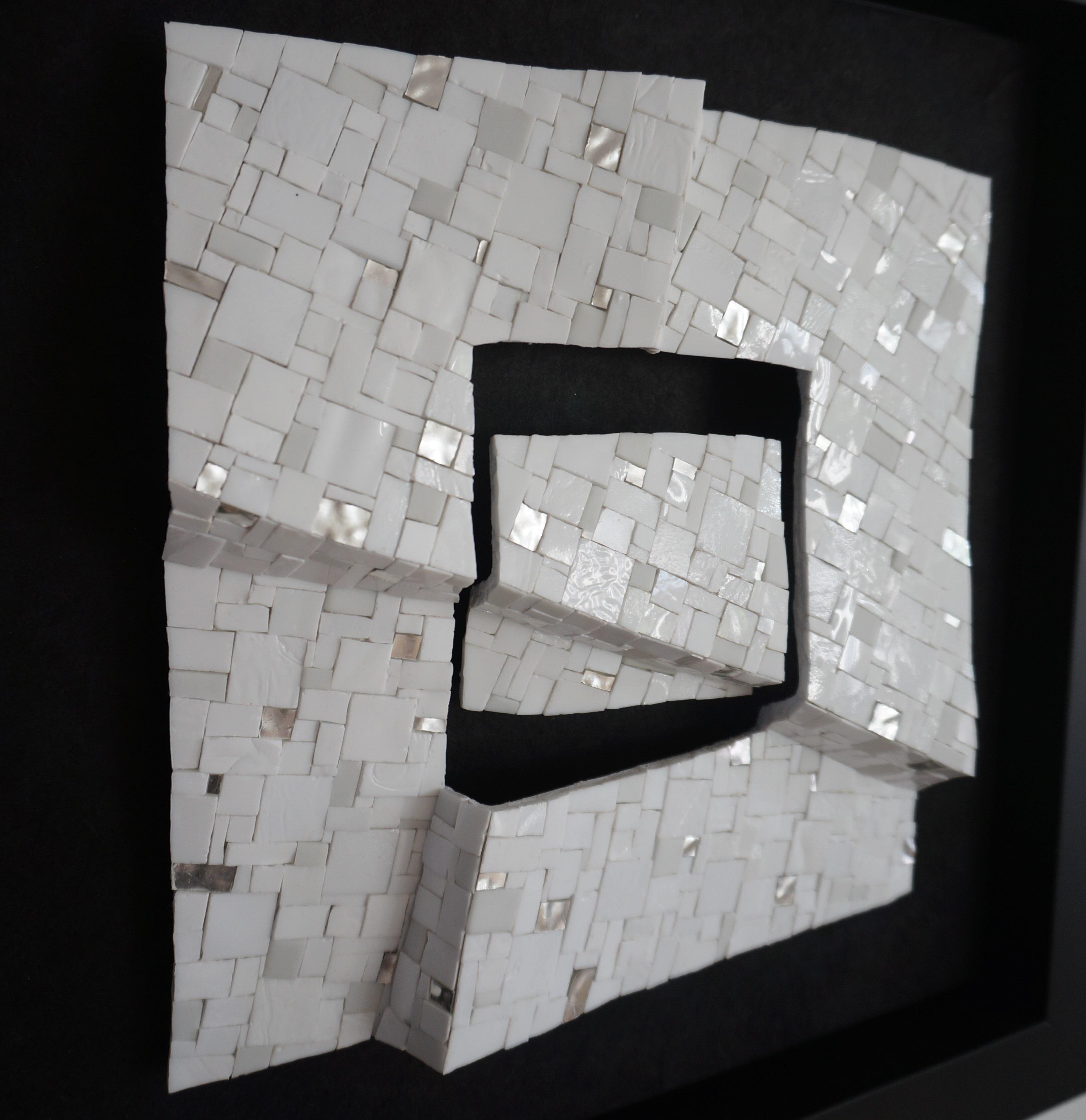 Shiro Piegare 8128 (6) White Black Silve