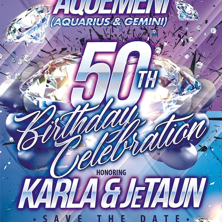 SAVE THE DATE - AQUEMENI 50TH [KARLA & JeTAUN]