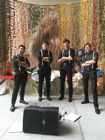 Performing at International Towers