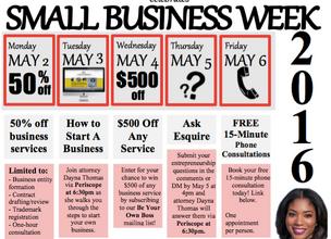 Celebrating Small Business Week 2016!