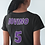 Thumbnail: Customized Lady Attack Long Sleeve Shirt - with player name & number