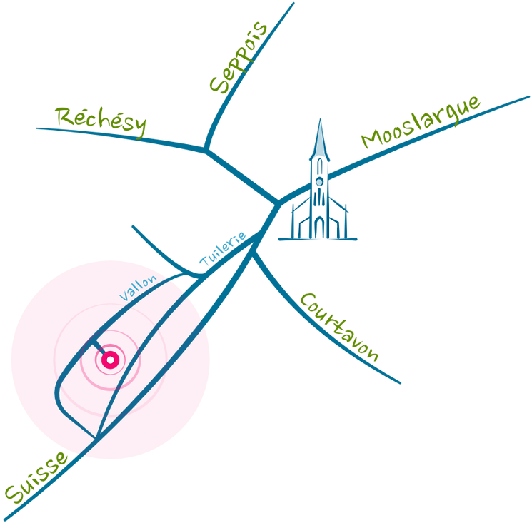 Plan cabinet kinésiologie Pfetterhouse