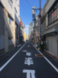 a side street in Shinjuku, Japan