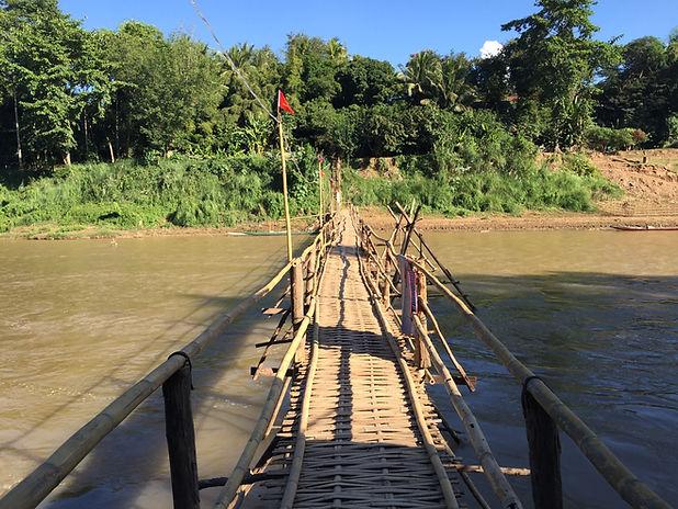 Rickety bridge in Luang Prabang, Laos