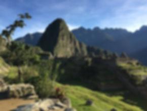 a sunny day in Machu Picchu near Cusco Peru