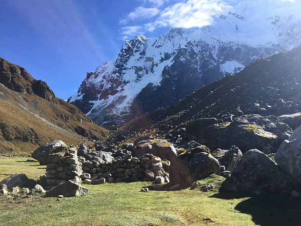 a view of the Salkantay Pass on the Salkantay Trek in Cusco Peru