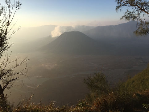 Sunrise at Mount Bromo National Park in Java near Malang