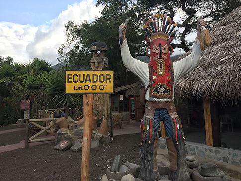 the Equatorial Line in Quito, Ecuador