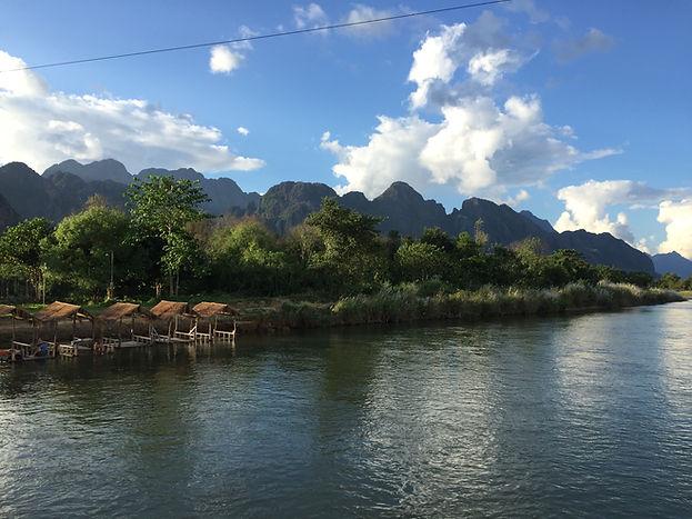 Nam Song River in Vang Vieng, Laos