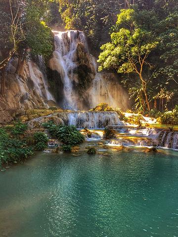Kuang Si Waterfalls in Luang Praband in Laos