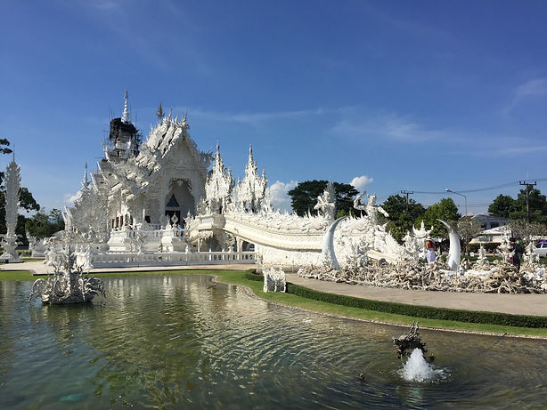 Wat Rong Khun or White Temple in Chiang Rai Thailand