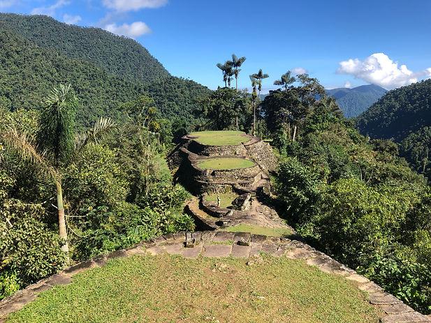 the ruins at the Lost City Trek or Cuidad Perdida Hike in Santa Marta Colombia