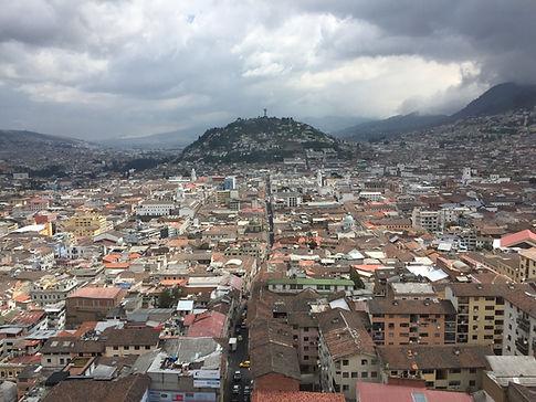a cloudy day overlooking Quito, Ecuador