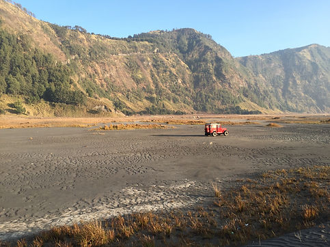 a truck at Mount Bromo National Park in Java near Malang