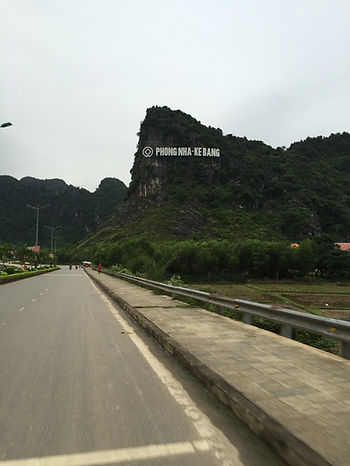Scooting along the roads of Phong Nha National Park in Vietnam