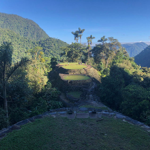 The Lost City ruins in Colombia, South America in the jungle