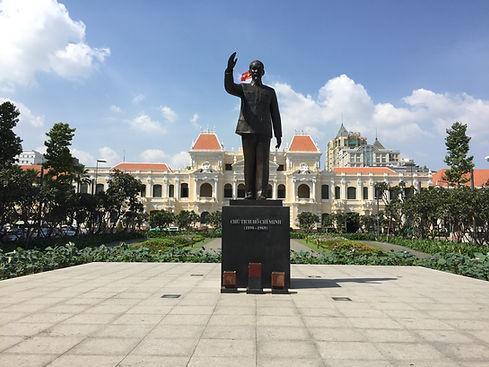 Trần Hưng Đạo Statue in Ho Chi Minh City Vietnam