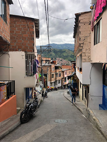 Medellin street in the Communa 13 neighborhood on the Graffiti Tour