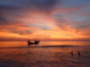 beautiful & colorful sunset in Koh Rong Cambodia