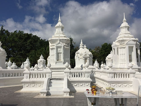 white temple in Chiang Mai, Thailand