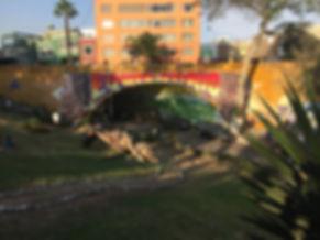 The Barranco neighborhood of Lima during the sunset graffiti tour