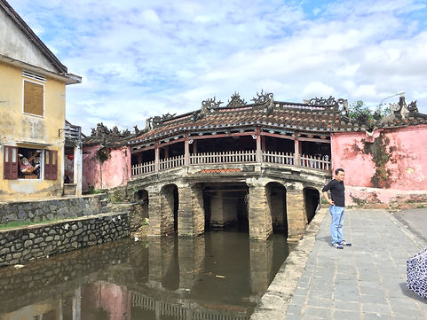Japanese Covered Bridge in the Old Town of Hoi An Vietnam