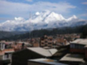 a panomramic view of Huaraz in Peru