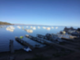Docks in Puno, Peru on the edge of Lake Titcaca