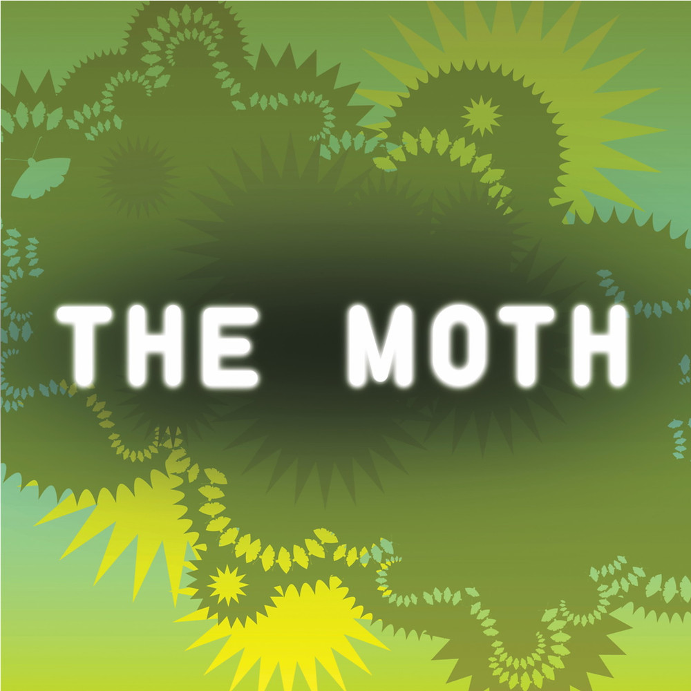 The Moth Radio Hour podcast and story slam logo from NPR public radio