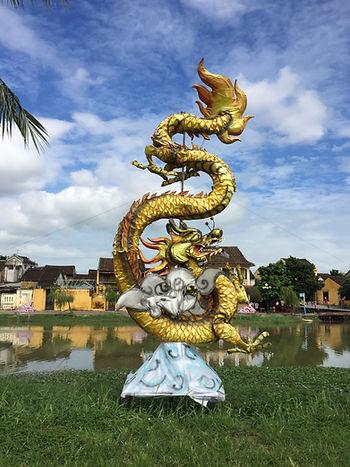 Dragon statue Hoi An Vietnam