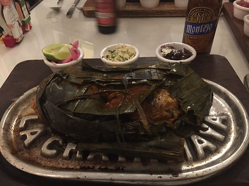 Traditional Oaxacan food at a restaurant in Merida, Mexico on the Yucatan Peninsula