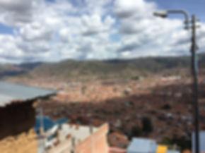 Rooftop viewpoint of Cusco Peru