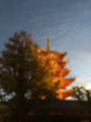 Senso-Ji Tempe at sunset in Tokyo Japan