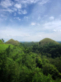 the Chocolate Hills on the island of Bohol in the Philippines