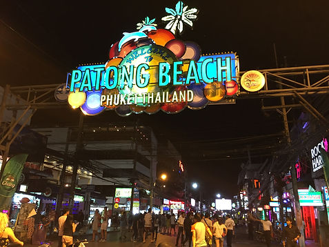 Patong Beach, Phuket at night on Bangla Walking Street