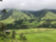 Hills and clouds on the Cocora Valley trek in Salento Colombia