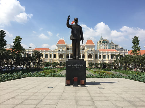 Military Statue of Ho Chi Minh in Ho Chi Minh City Vietnam