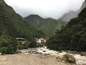 the town of Aguascaliente in Peru, near Cusco and Machu Picchu