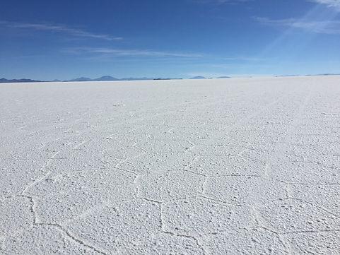 the Salt Flats in Uyuni, Bolivia