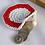Red White Crochet Round Coin Purse 4