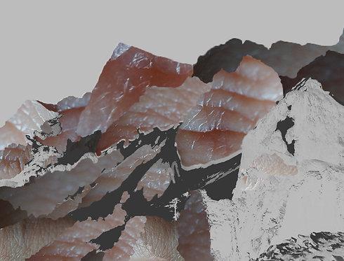 Mountain II digital collage print by Ilektra Maipa